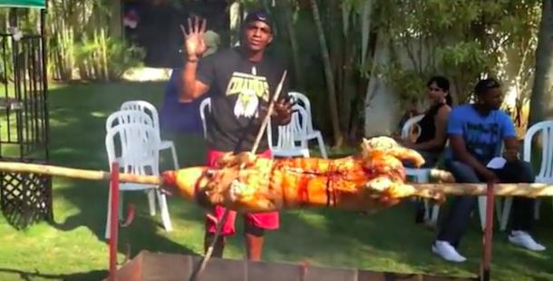 yonis cespedes hog roast
