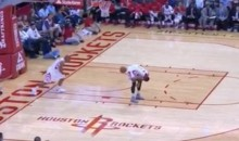Andrew Goudelock Inbounds Ball Off Butt of Injured Josh Smith (Video)