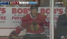 Hawks' Andrew Shaw Shouts Homophobic Slur at Ref (Video)