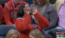 Female Bulls Fan is So Loud, Commentator Stacey King Can't Take It (Video)