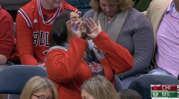Bulls Fan Yelling