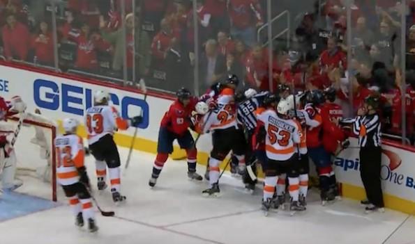 Caps Flyers Brawl