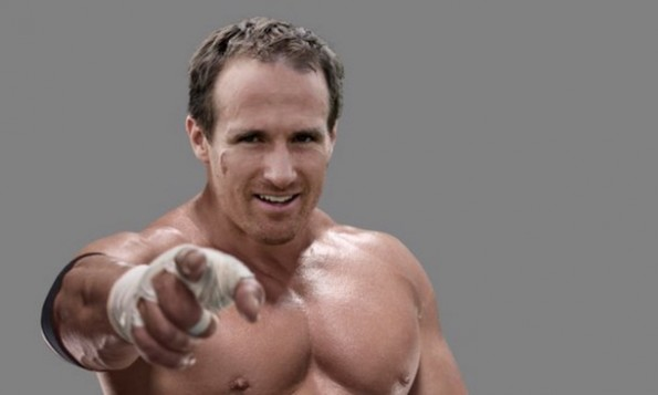 Drew Brees as Triple H