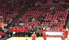 No One Showed Up For the Start of Clippers-Blazers Game 5 (Pics)