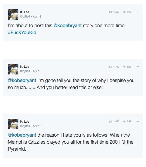 Former Kobe Bryant Fan story fuck you 1