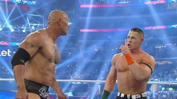 John Cena The Rock Wrestlemania 32