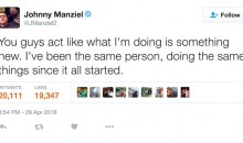 Johnny Manziel on Twitter: 'You Guys Act Like I'm Doing Something New'