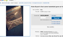 EBAY Users Selling Kobe Bryant's 'Air', 'Tears', & 'Poop' From His Last Game