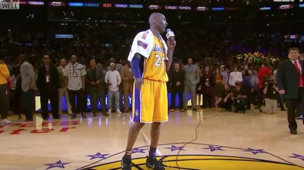 Kobe Bryant final game speech