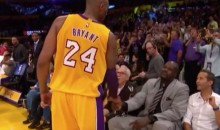 Kobe Bryant Shares a Moment With Shaq During Final Game (Video)
