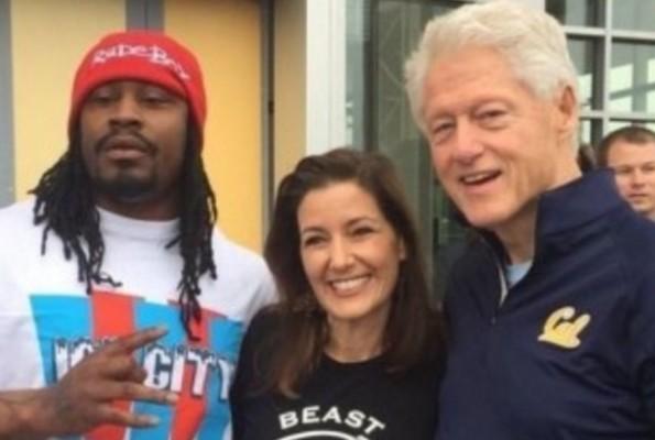 Marshawn Lynch and Bill Clinton