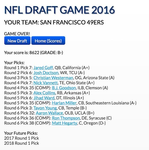 NFL Draft Game