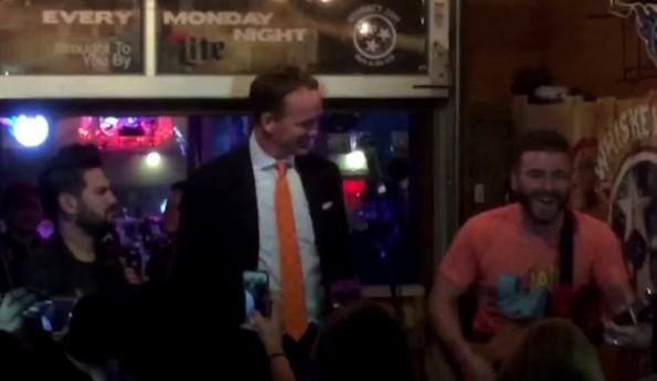 Peyton Manning Sing Rocky Top