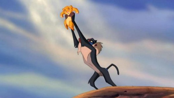 Rafiki holds Simba
