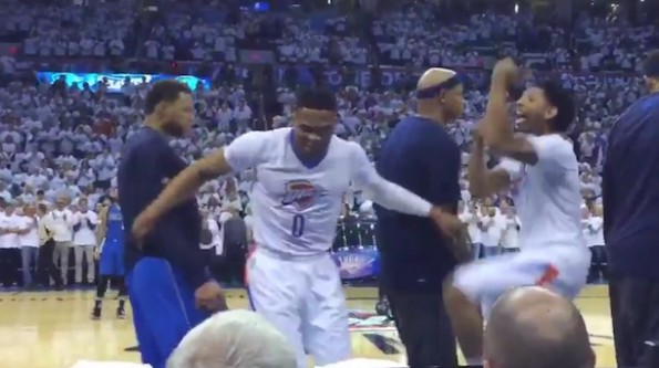 Russell Westbrook Dance vs Mavs