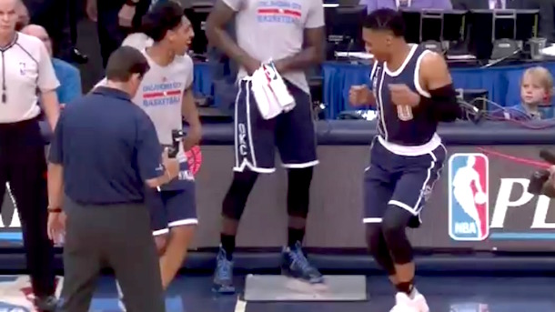 Russell Westbrook pre-game dance