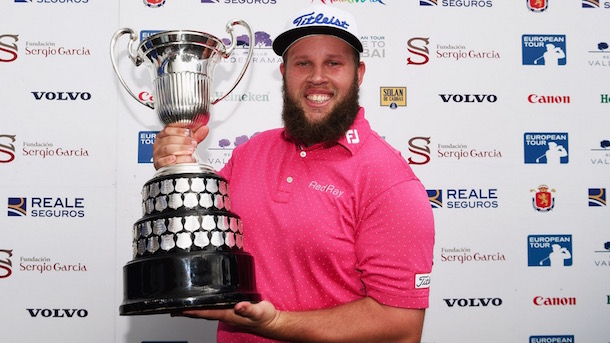andrew johnston spanish open trophy beer andrew beef johnston get hammered