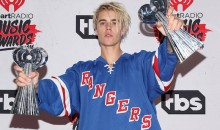 Justin Bieber Wears Gretzky Rangers Sweater at iHeartRadio Awards Just to Piss Everybody Off (Pics)