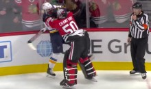 Watch Blackhawks G Corey Crawford Go Apesh*t on Blues F Robby Fabbri (Video)