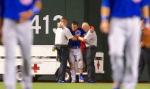 Cubs Slugger Kyle Schwarber Carted Off Field After Nasty Collision (Video)
