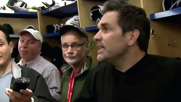 dan boyle tells new york post reporter to get the fuck out of the locker room
