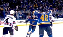David Backes Goal Lifts Blues Over Blackhawks in First OT Thriller of 2016 Stanley Cup Playoffs (Video)