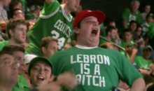 Boston Celtics Fan Rocks 'LeBron Is A B*tch' Shirt (Video)