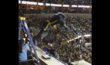 "Grizzlies Fans Chant ""Whoop That Trick"" While Mascot Jumps Off Ladder (Video)"