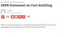 Curt Schilling Has Been Fired By ESPN After Posting Anti-Transgender Meme On Facebook