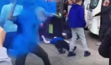Everton Fan Starts a Fight with an Innocent Man U Fan, Gets KO'd (Video)