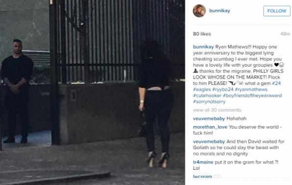 Eagles RB Ryan Mathews Instagram GF Puts Him On Blast