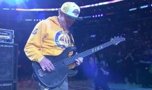 Flea From the Red Hot Chili Peppers Plays National Anthem for Kobe's Last Game (Video)