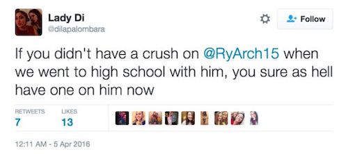 girls tweet love for Ryan Arcidiacono 10