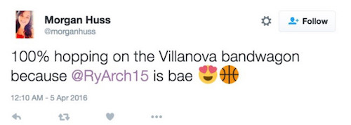 girls tweet love for Ryan Arcidiacono13