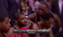 Watch As Kyrie Irving Ignores A Fired Up LeBron During A Timeout (Video)