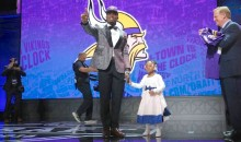 Laquon Treadwell Brought His Adorable Three-Year-Old Daughter on Stage at the NFL Draft (Video + Pic)