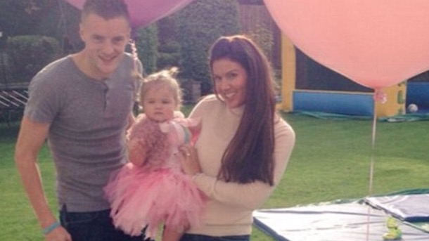 leicester city star jamie vardy one-year-old daughter subject of vile threats