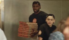 LeBron James Interacts With Patrons As Pizzeria Employee 'Ron' (Video)