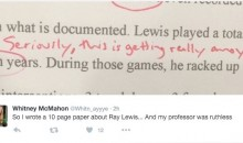 Liberty University Professor Sh*ts All Over Student's Report on Retired NFL Superstar Ray Lewis (Pics)