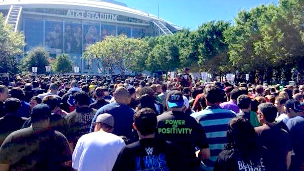 lineup outside at&t stadium wrestlemania 32 (at&t stadium wifi wrestlemania 32)