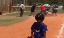Little League Parents Brawl in the Middle of a Game While World's Saddest Little Catcher Looks On (Video)