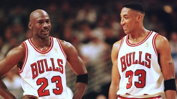 michael jordan and scottie pippen warriors 73 wins