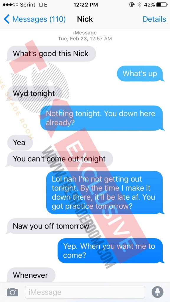 nick young side chick text messages 1