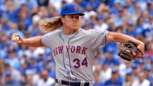 noah syndergaard pitch leaves mark on mets catcher