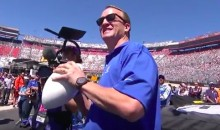 Peyton Manning Gets Stripped by NASCAR Cameraman (Video)