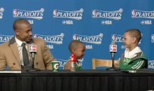 Isaiah Thomas Pulls a Steph Curry, Brings His Adorable Kids to the Press Conference (Video)