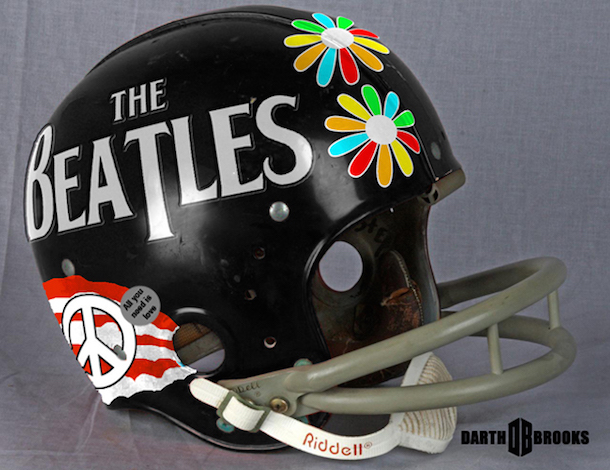 rock and roll football helmets
