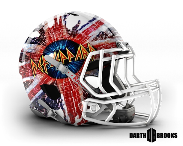 rock and roll football helmets def leppard