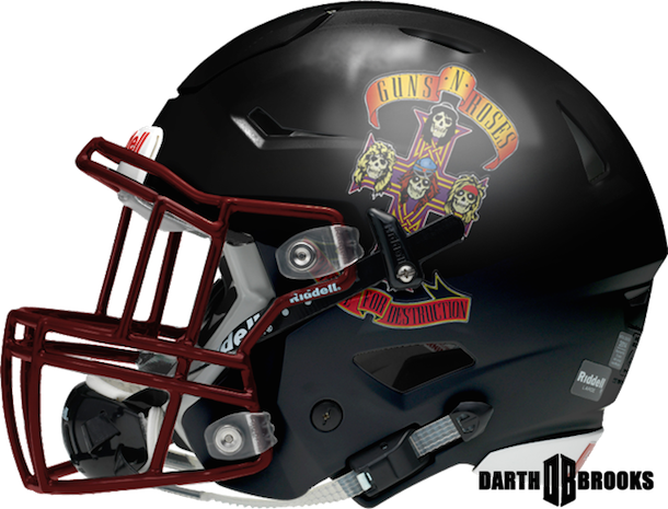 rock and roll football helmets guns n roses