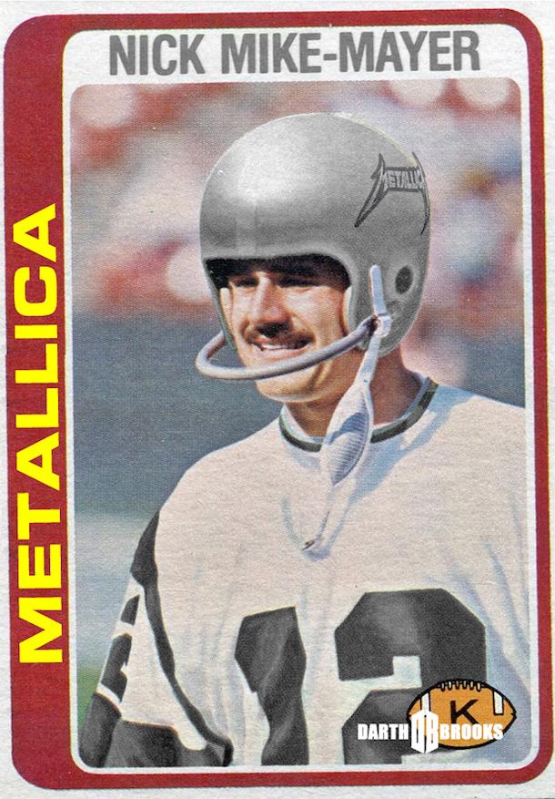 rock and roll football helmets metallica
